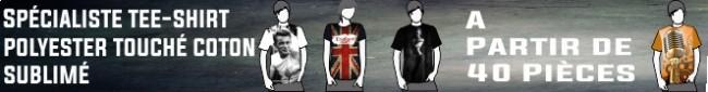 publicite t-shirt polyester touché coton sublime 40 pièces